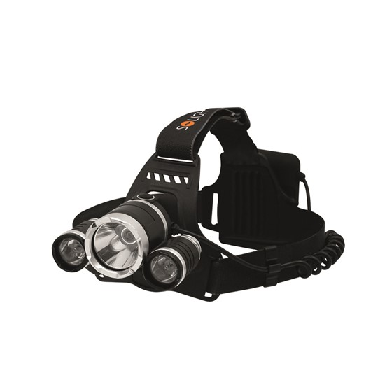 Pealamp Solight WH23 900lm, 3x Cree LED, 4xAA